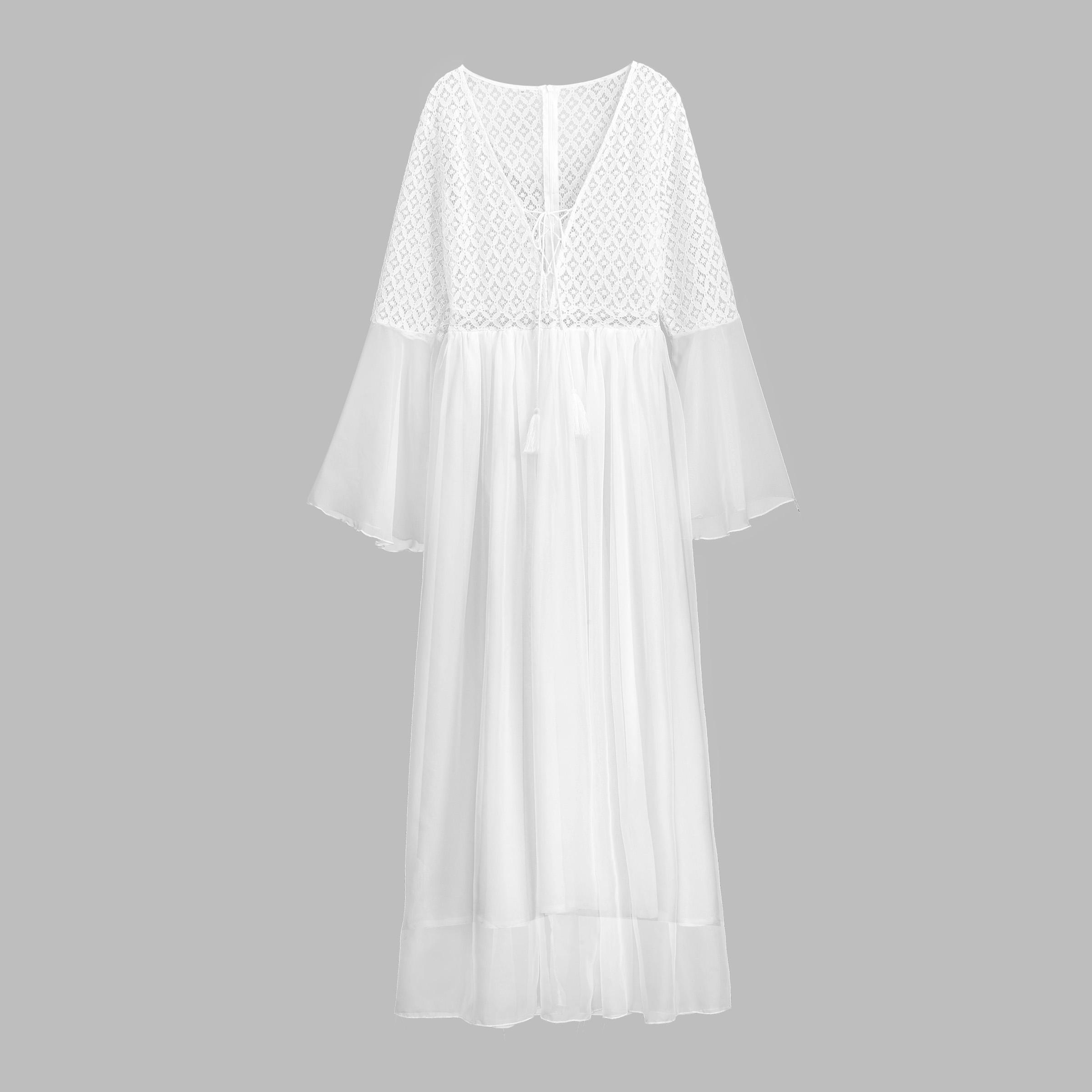 Kjoler med blonder hvide Blondekjoler